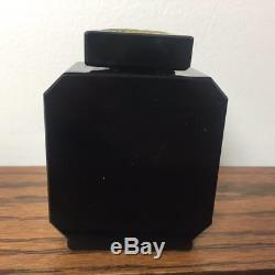 Antique Vintage EMPTY Guerlain LIU Black Glass 2.5 Oz. Perfume Bottle No Box