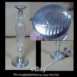 Antique Wm Kerr Co Sterling Silver Cut Crystal Perfume Bottle Black Starr Frost