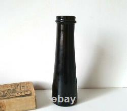 Antique glass truffle jar pot bottle Kitchen storage Primitive container