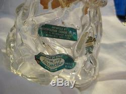 Archimede Seguso Murano For Luxardo Black & White Penguin Decanter Bottle