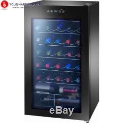 Arctic King Premium 34-Bottle Wine Cooler Chiller Black Glass Door LED Display