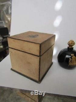 Arpege by Lanvin, black glass bottle with gold stopper, boxed