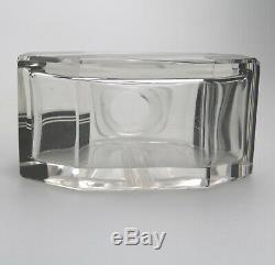 Art Deco Glass Exceptional black enamel and cut Scent Bottle Karl Palda C. 1930
