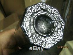 Attic Find Rare1740-60sand Pontiled Octogonal English Black Glass Utility