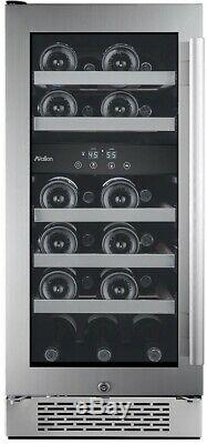Avallon 23-Bottle 15 in Dual Zone Built Wine Cooler Argon Filled Double Glass