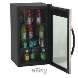 Avanti Beverage Cooler Refrigerator Fridge Glass 10 Bottle Wine 70 Can Black New