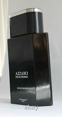 Azzaro Factice Glass Advertising Store Display Perfume Bottle-Black & Silver Top