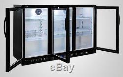 Back Bar Beer Black Glass Door Commercial Refrigerator Bottle case NSF