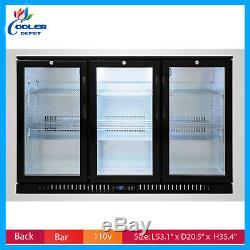 Back Bar Refrigerator Beer Cooler Glass Door Commercial Bottle Merchandiser NSF