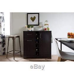 Bar Cabinet Furniture Wine Storage Bottle Glass Holder Liquor Rack Home Pub Oak