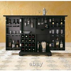 Bar Cabinet Storage Rack Wine Glasses Liquor Bottles Beer Cupboard Living Room A