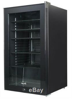 Beverage Center Can Cooler Wine Bottle Cellar Fridge Glass Door Lock Decor Style