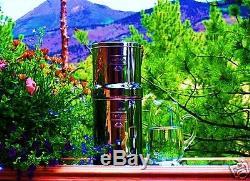 Big Berkey Water Purifier w2 Black Filters + Stand + Sight Glass Spigot + Bottle