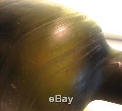 Black Glass Sand Pontil Mallet Rum c. 1800-1815 Salt Water Etched