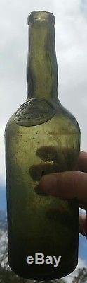 Black Glass Seal Wine Bottle Charleston, SC privy dug