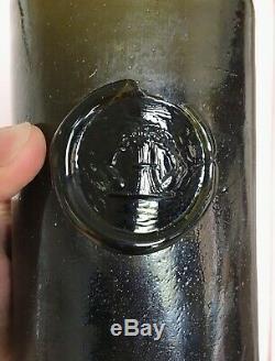 Black Glass Sealed Wine Bottle