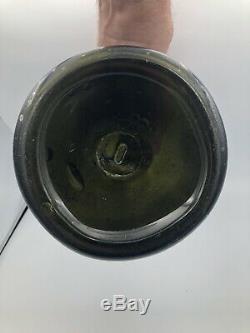 Black Glass mallet (onion) Kick Up With Pontil Base Bottle 1720-1760 String Lip