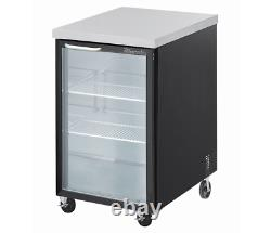 Blue Air Single Glass Door 23 Back Bar Cooler Bottle Refrigerator, BBB23-1BG-HC