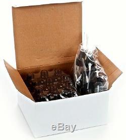 Bulk lot of 240, 1 oz Amber Glass Bottles, with Black Fine Mist Sprayers