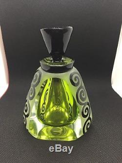 CORREIA ART GLASS PERFUME Bottle Chartreuse Black Tuxedo Lets Edition