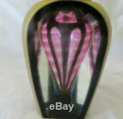 CORREIA PERFUME BOTTLE 1985 limited 32/200 Black Gold, Rose Pink Center 3 Panels