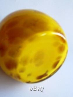 CZECH/BOHEMIAN ART DECO TANGO GLASS PERFUME BOTTLE 1930's