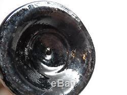 C. 1827-1847, 8.25 American Squat spirits/utility cylinder black glass bottle