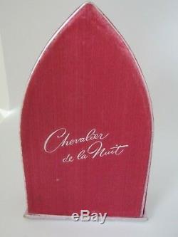 Chevalier de la Nuit by Ciro, black glass knight bottle in box