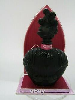Chevalier de la Nuit by Ciro, black glass knight shaped bottle, with box, factic
