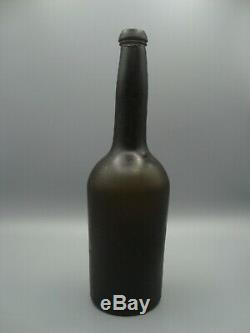 Circa 1820-50 Antique Black Glass Beer / Ale Bottle