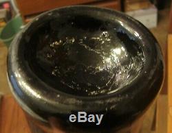 Circa 1820 Black Glass Pontil Squat Wine Mallet Bottle Stunning condition