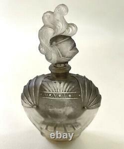 Ciro Chevalier De La Nuit BLACK PERFUME GLASS Knight BOTTLE Paris with TAG Rare