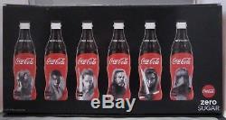 Coca-Cola Zero glass bottle set box plastic sleeve Star Wars Belgium 2017