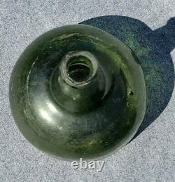 Colonial Era Dutch Onion Wine Bottle 1725-1775 Green Black Glass