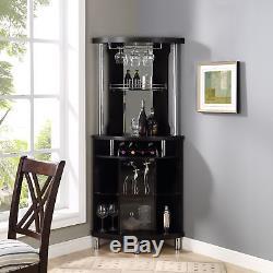 Corner Home Bar Cabinet Unit Wine Buffet Bottle Gl Storage Display Furniture