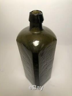 Crude Pontiled Olive Green Black Glass Dr. Townsend's Sarsaparilla Albany Ny