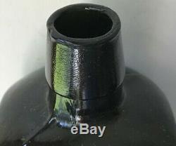 DR. J. HOSTETTER'S STOMACH BITTERS Bottle Civil War Era1860 Black Glass