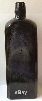 DR. J. HOSTETTER'S STOMACH BITTERS Bottle Civil War Era c 1860 Black Glass