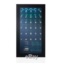Danby Wine Cooler 36-Bottle Freestanding Blue LED Adjustable Shelves Glass Door