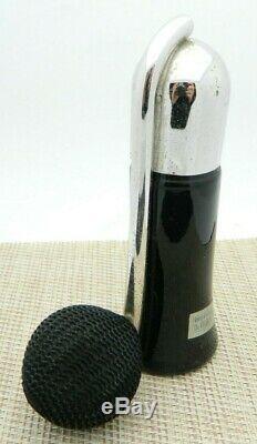 Devilbiss Closure Rhodium Plate Black Glass Perfume Bottle Atomizer Vintage