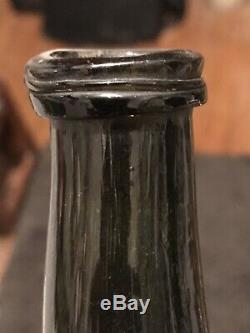 Early Black Glass Pontil Old Bottle Bubbles 1780