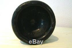 English Black Glass Late 18th Century Rum Bottle