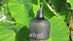 English Colonial Black Glass Wine Bottle from 1720-1740