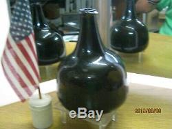 Excellent Sand Pontiledcirca 1750'sbrilliant Black Glass True English Mallet