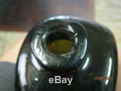 Fla. Keys Find Mint & Magnificent 10 1/2 Pontiled Black Glass Dutch Case Gin