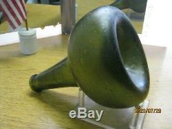 Fla Keys Shipwreck Crudest Ever Dig Find Pontil1700's Black Glass Dutch Onion