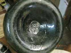 Fla Keys Shipwreck Dug Pontil Straight Side 1700's Black Glass Dutch Onion