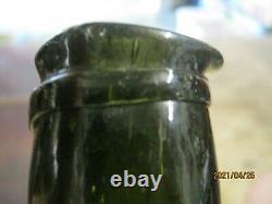 Fla Keys Shipwreck Findpontiled1840's Black Glass Belgian Bell Fat Neck Mallet