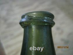 Fla Keys Shipwreck Ocean Find Pontiled1700's Black Glass Dutch Bell Onion