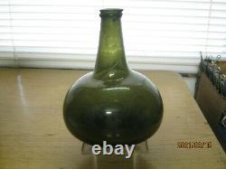 Fla Keys Shipwreck Ocean Findpontiled1700's Black Glass Dutch Bulbous Onion